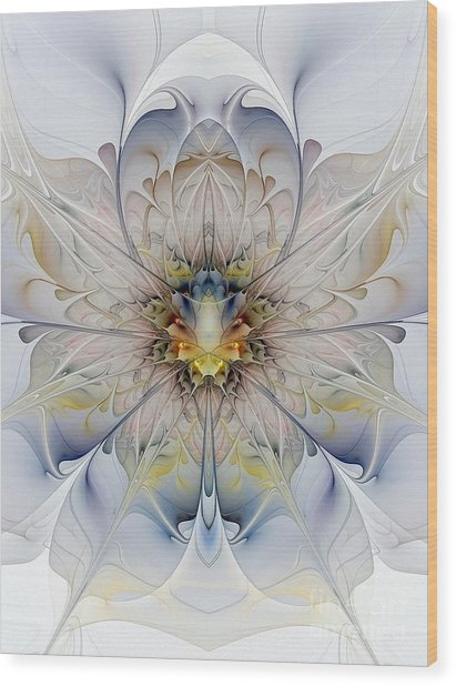 Mirrored Blossom Wood Print