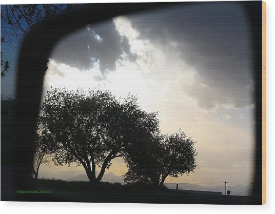 Mirrored Sunset Wood Print by KatagramStudios Photography
