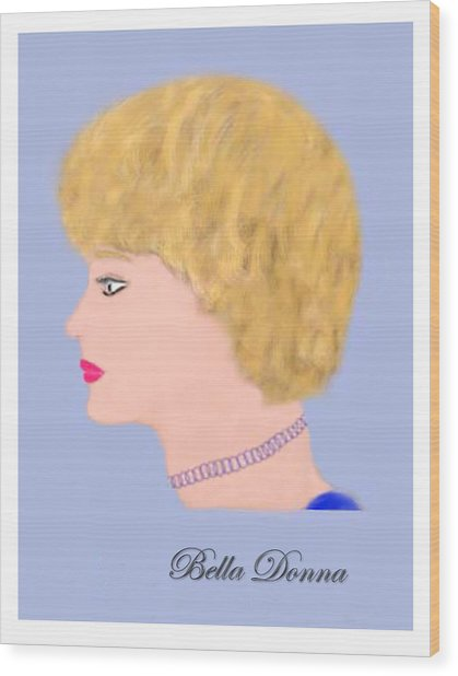 Miss Bella Donna Wood Print by Jerry White