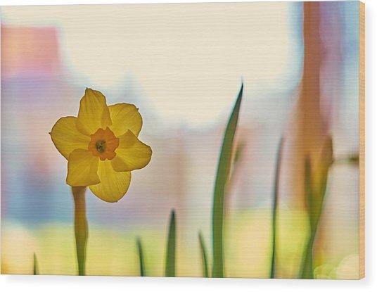 Miss Yellow Wood Print