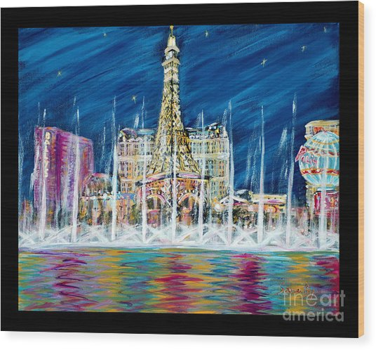 Miss You Las Vegas. Beautiful City View Wood Print