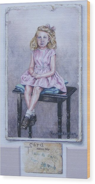 Missing Daddy, Devonshire 1940 Wood Print