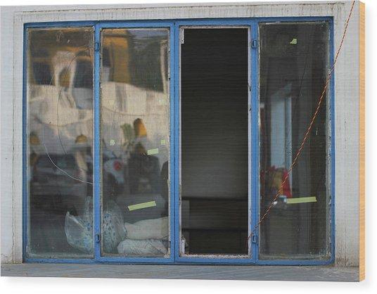Missing Window Pane Wood Print by Prakash Ghai