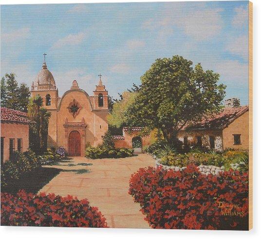 Mission Carmel Wood Print