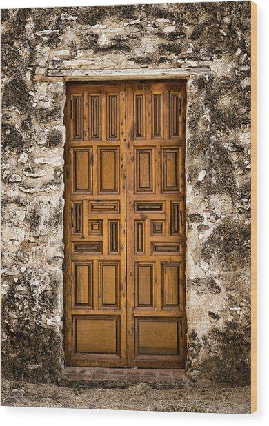 Mission Concepcion Door #3 Wood Print