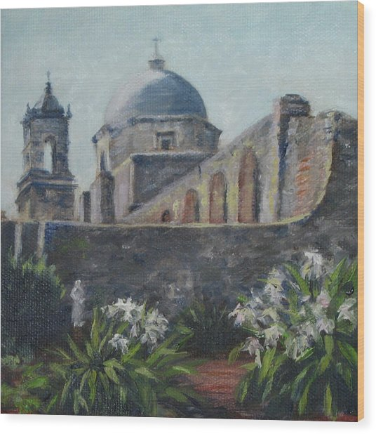 Mission Concepcion In San Antonio Wood Print