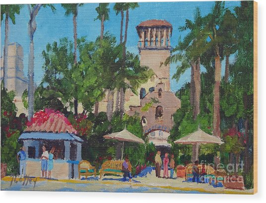 Mission Inn On A Sunny Day Wood Print