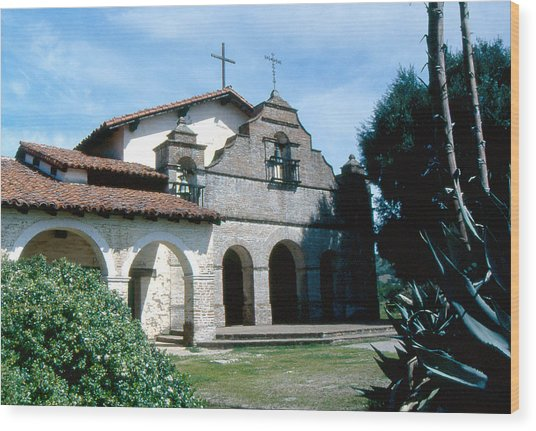 mission San antonio 2 Wood Print