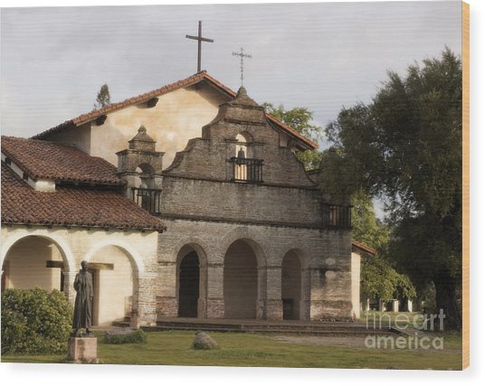 Mission San Antonio Wood Print