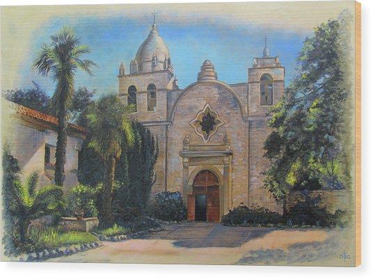Mission San Carlos In Carmel By The Sea Wood Print
