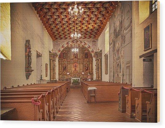 Mission San Francisco De Asis Interior Wood Print
