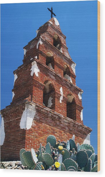 Mission San Miguel Bell Tower Wood Print