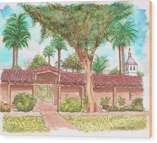 Mission Santa Clara De Asis, California Wood Print