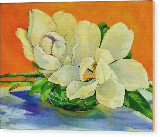 Mississippi Magnolias Wood Print