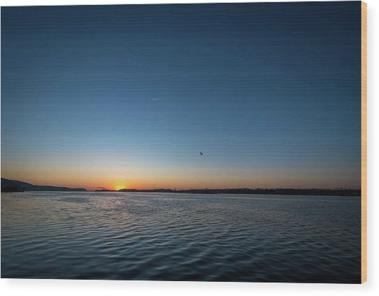 Wood Print featuring the photograph Mississippi River Sunrise by Matthew Chapman