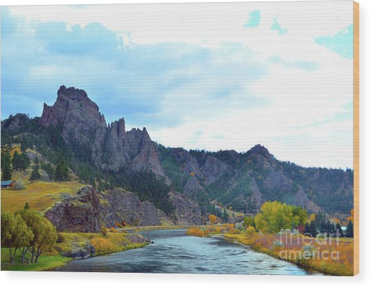 Missouri River Colors Wood Print