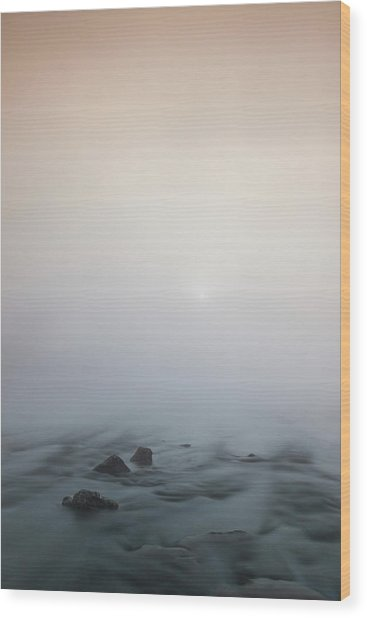Wood Print featuring the photograph Mist Over The Third Stone From The Sun by Davor Zerjav