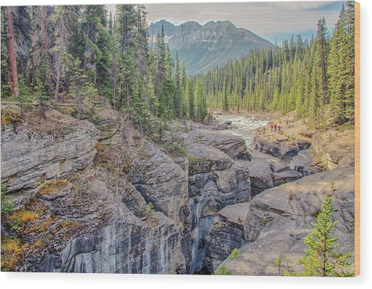 Wood Print featuring the photograph Mistaya Canyon by Jim Dollar
