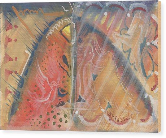 Mistic Cave Wood Print