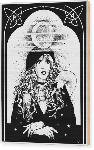 Mistress Of My Faith Wood Print