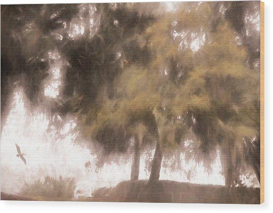 Mists Begin To Lift Wood Print
