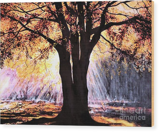 Mists Of Time  Wood Print