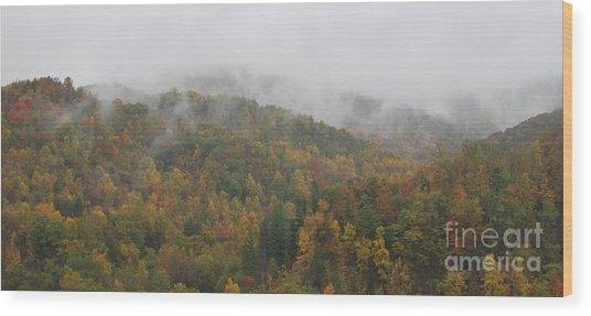 Misty Autumn Wood Print