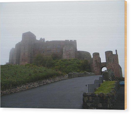 Misty Bamburgh Castle Wood Print