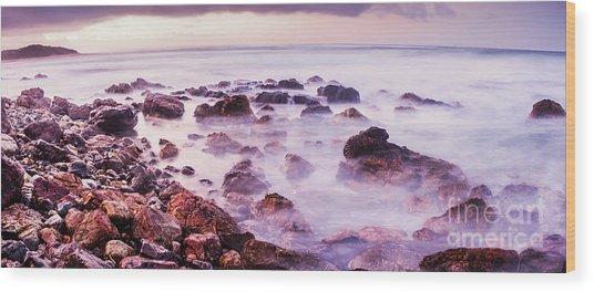 Misty Bay Wood Print
