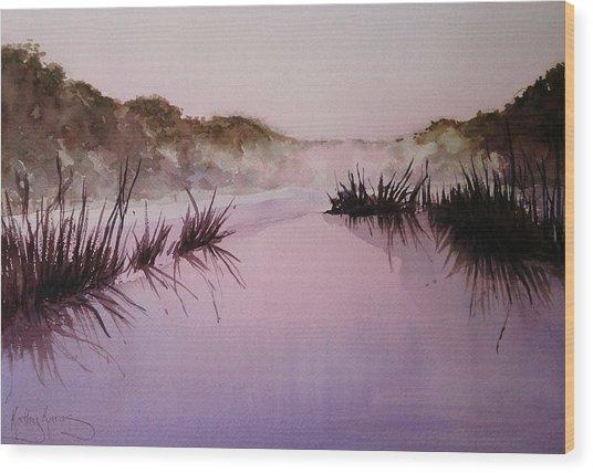 Misty Dawn Wood Print