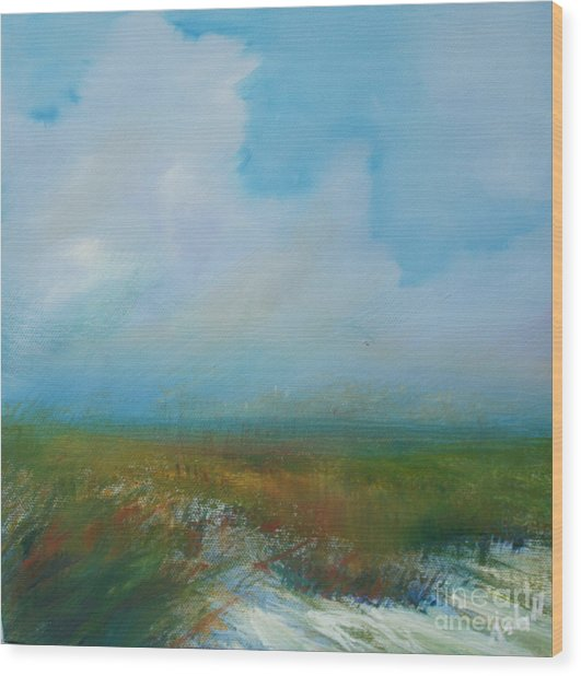 Misty Marsh Wood Print by Michele Hollister - for Nancy Asbell