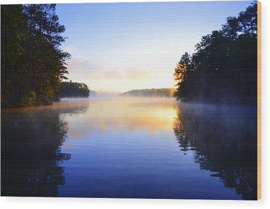 Misty Morining Wood Print