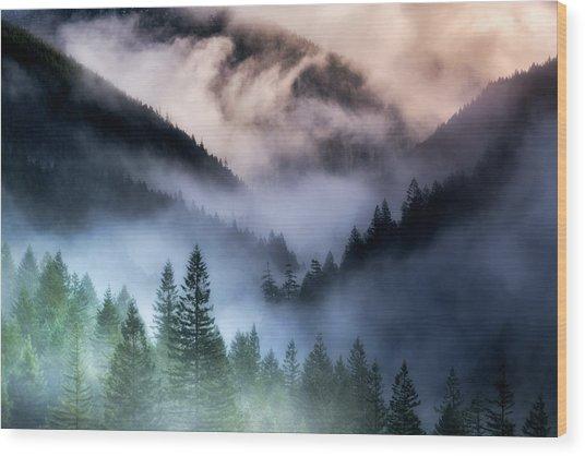 Misty Mornings Wood Print