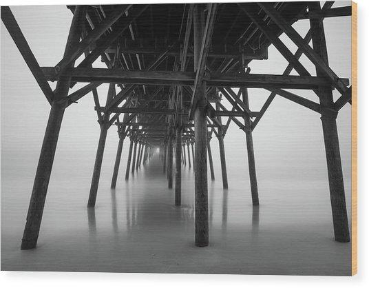 Misty November Morning I Wood Print