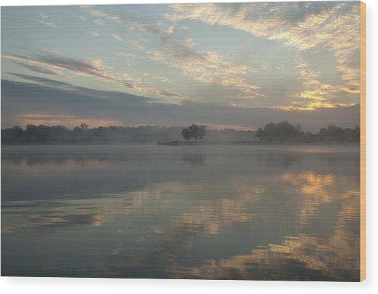 Misty Reflections Wood Print