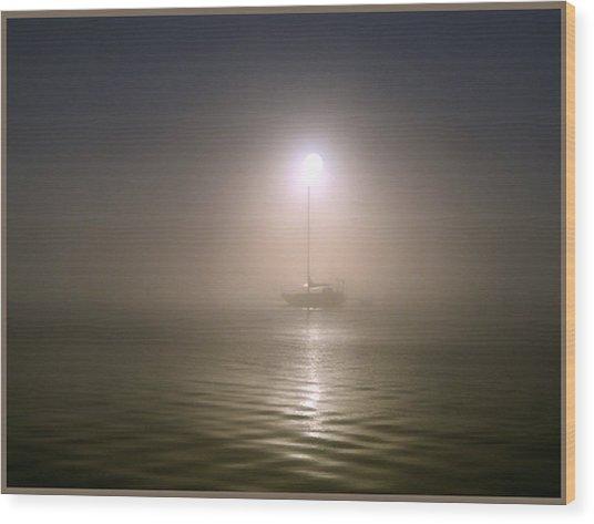 Misty Sun Wood Print