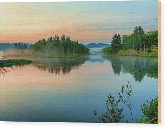 Misty Sunrise IIi Wood Print