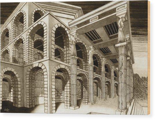 Mithlond Gray Havens Wood Print