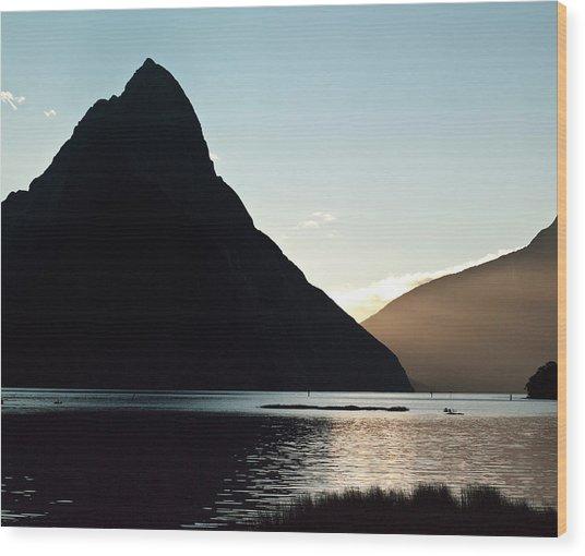 Mitre Peak Milford Sound New Zealand Wood Print