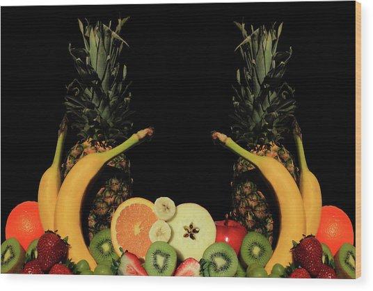 Mixed Fruits Wood Print