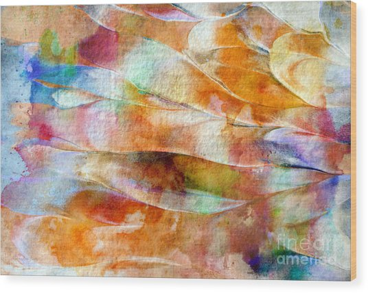 Wood Print featuring the painting Mixed Media Abstract  B31015 by Mas Art Studio