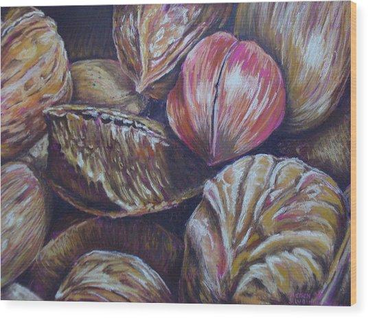 Mixed Nuts Wood Print