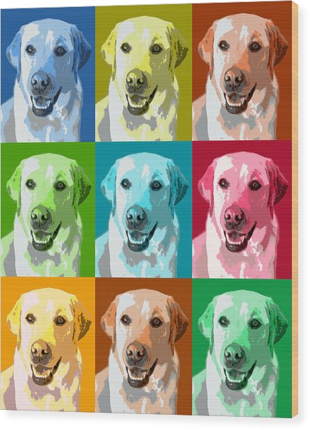 Golden Retriever Warhol Wood Print