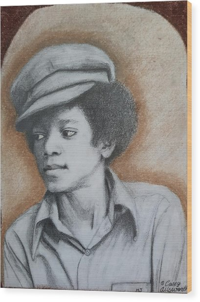 MJ Wood Print