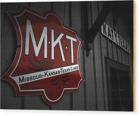 Mkt Railroad Lines Wood Print