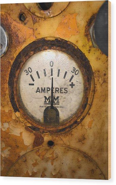Mm Amperes Gauge Wood Print