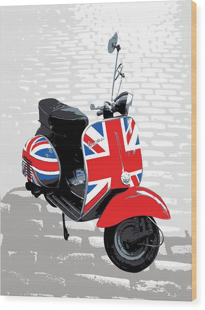 Mod Scooter Pop Art Wood Print
