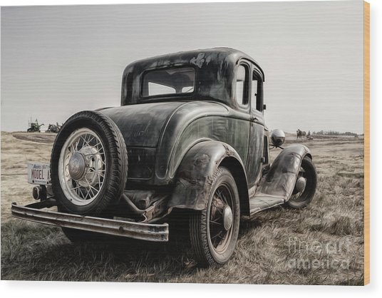 Wood Print featuring the photograph Model A by Brad Allen Fine Art