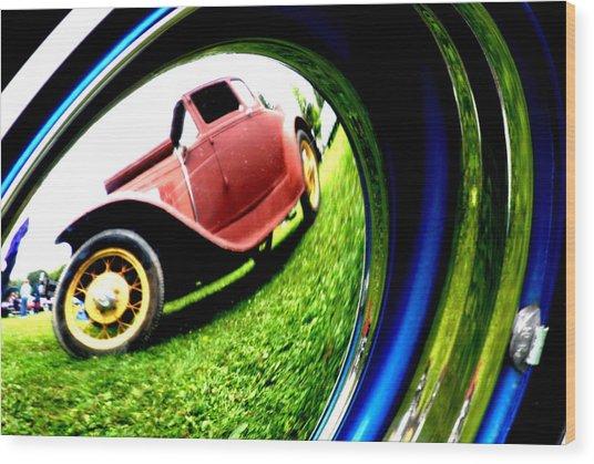 Model T In A Bubble Wood Print