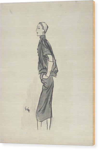 Model Wearing Givenchy Wood Print